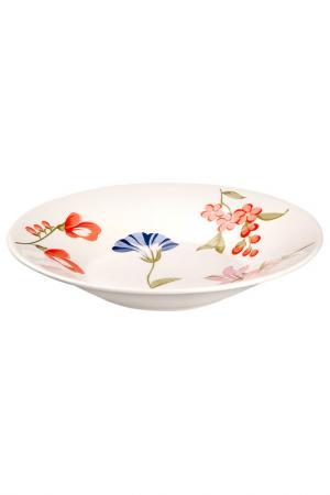 Тарелка 22 см Biona. Цвет: белый
