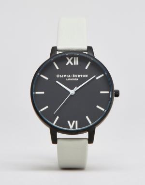 Olivia Burton Часы с серым ремешком After Dark OB16AD04. Цвет: черный