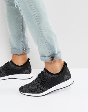 Cayler & Sons Черные трикотажные кроссовки с камуфляжным принтом. Цвет: черный