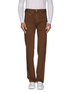 Повседневные брюки BETWOIN. Цвет: коричневый