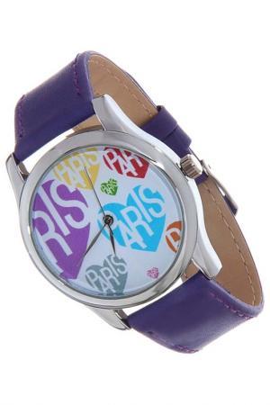 Часы Сердца и Париж MITYA VESELKOV. Цвет: фиолетовый, голубой