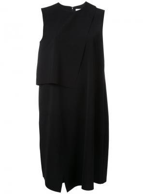 Многослойное платье шифт Enföld. Цвет: чёрный