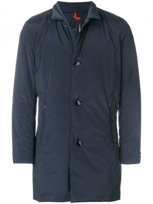 Пальто на пуговицах Rrd. Цвет: синий