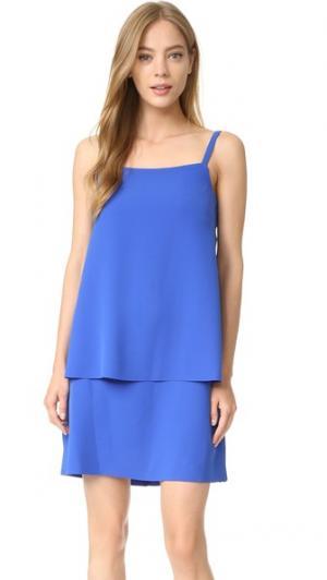 Двухслойное платье-майка Grey Jason Wu. Цвет: голубой