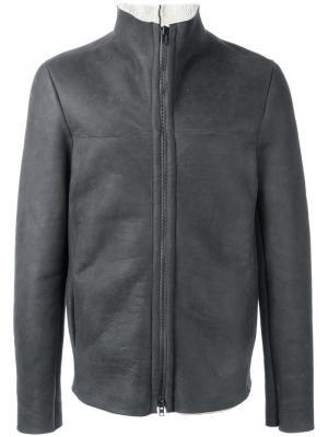 Куртка бомбер с отделкой Salvatore Santoro. Цвет: серый