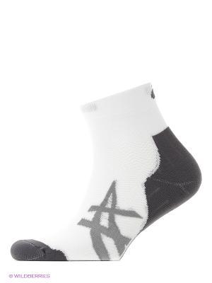 Носки (2 пары в упаковке) ASICS. Цвет: белый, серый