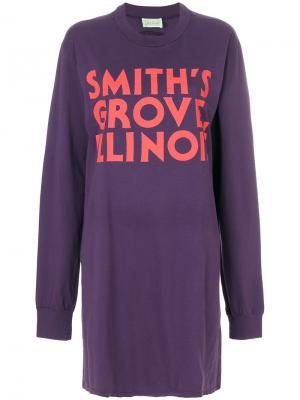 Платье-свитер мешковатого кроя Aries. Цвет: розовый и фиолетовый