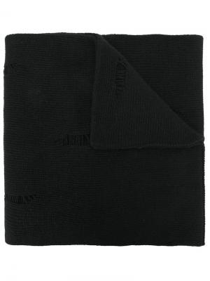 Трикотажный шарф Dondup. Цвет: чёрный