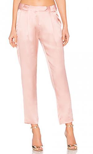 Плиссированные брюки Michelle Mason. Цвет: розовый