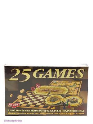 Детская настольная игра 25 игр для всей семьи DREAM MAKERS. Цвет: коричневый