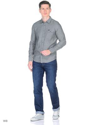 Рубашка 1PKT Wrangler. Цвет: серый