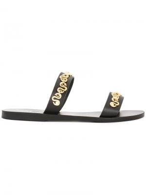 Босоножки Poulia Ancient Greek Sandals. Цвет: чёрный