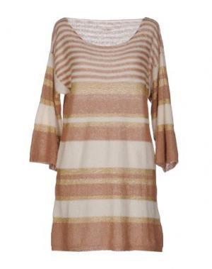 Короткое платье GIORGIA & JOHNS. Цвет: коричневый