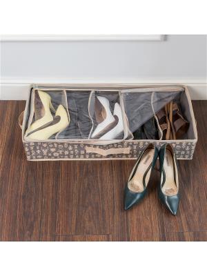 Органайзер для обуви Hipster Animals с жесткими бортами (5 отделений) Homsu. Цвет: серый, бежевый