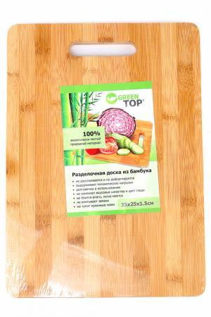 Доска разделочная 35х25 Green Top. Цвет: дерево
