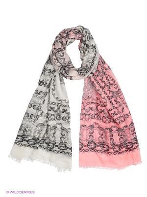 Палантин CODELLO. Цвет: серый, розовый