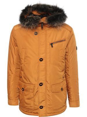 Куртка Finn Flare. Цвет: оранжевый