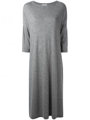 Вязаное платье миди Barrie. Цвет: серый