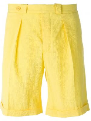 Фактурные шорты Carven. Цвет: жёлтый и оранжевый
