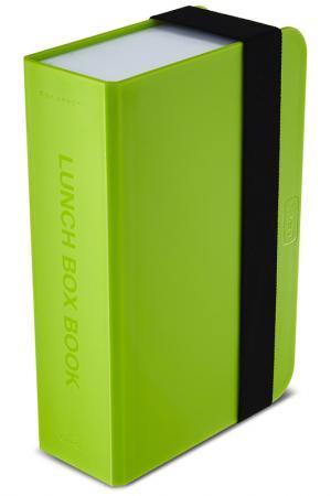 Ланч-бокс Box Book Black+Blum. Цвет: лайм