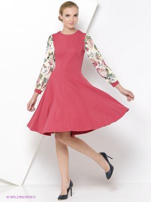 Платье RUXARA. Цвет: бордовый