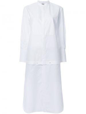 Удлиненная рубашка Undercover. Цвет: белый