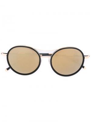 Солнцезащитные очки с круглой оправой Matsuda. Цвет: чёрный