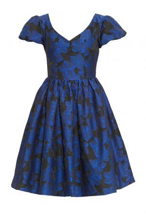 Платье из искусственного шелка 170488 Paola Morena. Цвет: синий