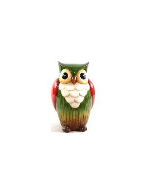 Садовая фигура - Сова Marquis. Цвет: зеленый, красный