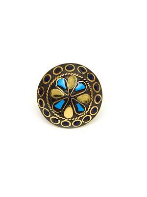 Кольцо Indira. Цвет: золотистый, бронзовый, хаки