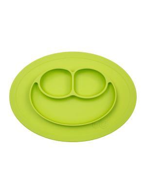 Тарелка-плейсмат ezpz. Цвет: салатовый
