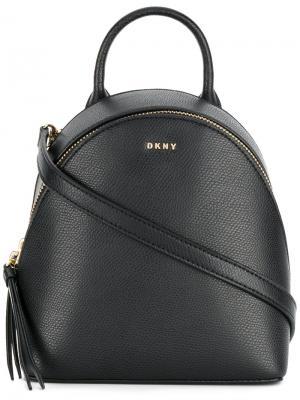 Мини рюкзак Saffiano Donna Karan. Цвет: чёрный