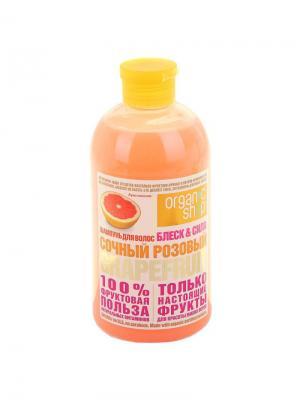 Шампунь  розовый грейпфрут 500мл Organic Shop. Цвет: розовый