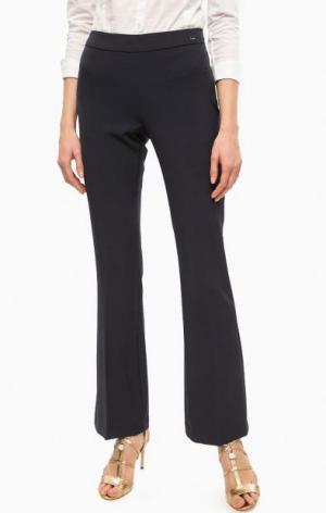 Расклешенные брюки темно-синего цвета Gaudi. Цвет: синий