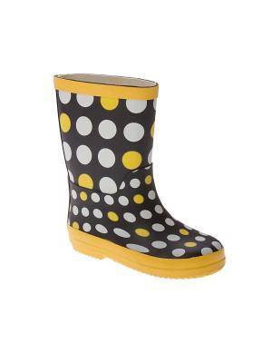 Резиновые сапоги PlayToday. Цвет: черный, желтый