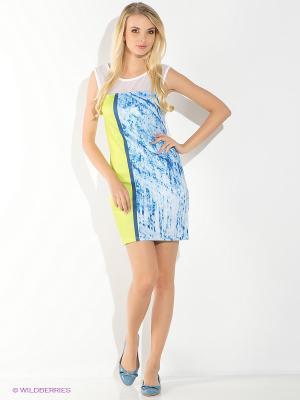 Платье EUGENE Salsa. Цвет: голубой, желтый