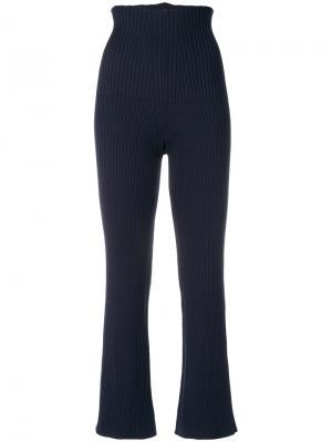 Классические брюк с высокой талией Circus Hotel. Цвет: синий