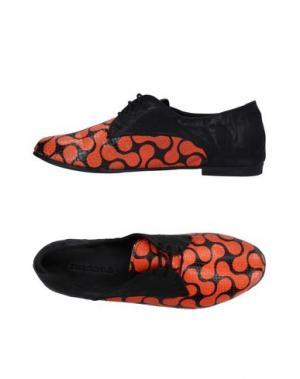 Обувь на шнурках KUDETÀ. Цвет: оранжевый