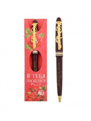 Ручка шариковая Bizon. Цвет: бордовый