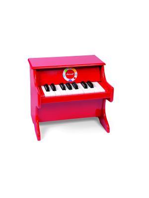 Детское пианино  красное, музыкальный инструмент Janod. Цвет: красный