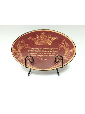 Тарелка декоративная из доломитовой керамики Magic Home. Цвет: красный