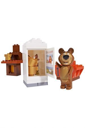 Конструктор Маша и Медведь BIG. Цвет: коричневый