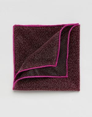 ASOS Блестящий розовый платок для нагрудного кармана. Цвет: розовый