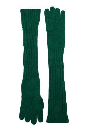 Кашемировые перчатки 143558 Barbaro Brunelli. Цвет: зеленый