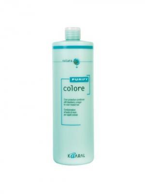 Purify Кондиционер для окрашеных волос на основе экстракта ежевики Colore Conditioner 1000мл. Kaaral. Цвет: светло-зеленый