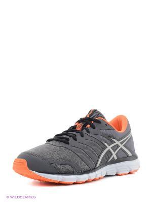 Кроссовки GEL-ZARACA 4 ASICS. Цвет: серый, оранжевый, черный