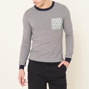 Пуловер в тонкую полоску SCOTCH&SODA. Цвет: серый
