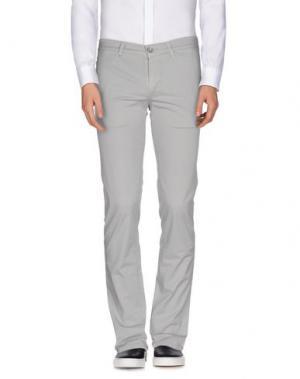 Повседневные брюки RE-HASH. Цвет: светло-серый
