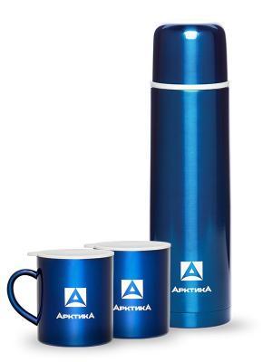 Подарочный набор, Арктика, термос 1000 мл, кружка 2 шт Арктика. Цвет: синий