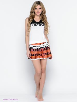 Комплект одежды PENYE MOOD. Цвет: темно-синий, оранжевый, белый